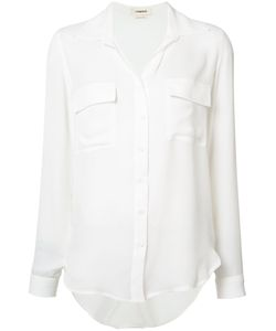 L'Agence | Silk Pocket Shirt Small Silk