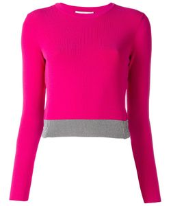 Cedric Charlier | Cédric Charlier Bicolour Cropped Jumper 40 Polyester/Rayon