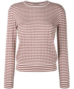 A.P.C. | A.P.C. Annabelle Striped Pointelle-Knit Sweater Size Medium