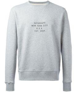 SATURDAYS NYC | Slogan Print Sweatshirt Size Small
