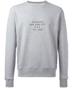 SATURDAYS NYC | Slogan Print Sweatshirt