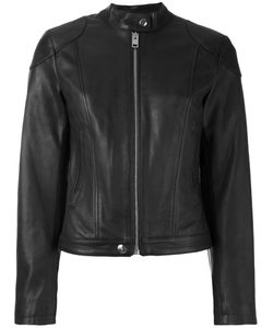 Diesel | Zipped Jacket Large Calf Leather/Cotton/Polyester