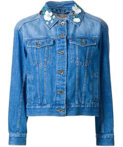 Muveil | Embellished Collar Denim Jacket
