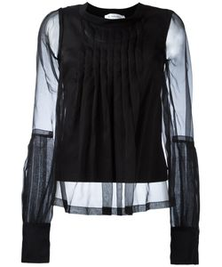 Io Ivana Omazic | Pleated Front Sheer Blouse Size 42