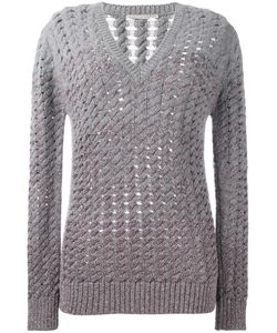 Marco De Vincenzo | V-Neck Open Knit Jumper 42