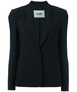 MSGM | Single Button Blazer 40 Acetate/Viscose/Polyester