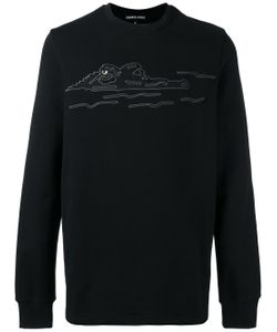 Markus Lupfer | Embroidered Crocodile Sweatshirt