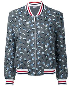 Thom Browne | Embroidered Flower Bomber Jacket