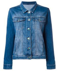 Simonetta Ravizza | Back Patch Denim Jacket Small Cotton/Suede