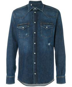 Dolce & Gabbana | Джинсовая Рубашка С Эффектом Поношенности Western