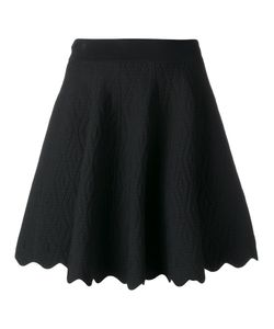Jonathan Simkhai | Scalloped Hem A-Line Skirt Medium Rayon/Nylon/Spandex/Elastane