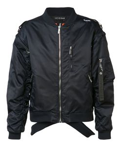 Icosae | Cut-Out Shoulders Bomber Jacket Small Cupro/Nylon