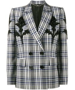 Alexander McQueen | Checked Blazer With Thistle Embellishment