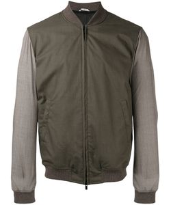 HEVO   Zipped Bomber Jacket 50 Cotton/Polyester/Nylon