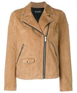 The Kooples | Suede Biker Jacket Xs Lamb Skin/Acetate/Polyester