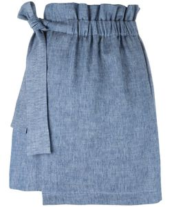 MSGM | Elasticated Waistband Detail Skirt 44 Cotton/Linen/Flax