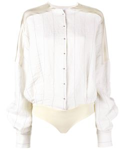 ESTEBAN CORTAZAR | Stripe Shirt Body 36 Viscose/Ramie/Linen/Flax/Spandex/Elastane