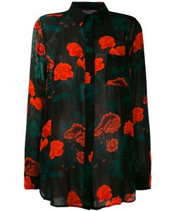 Ganni | Carnation Print Long Sleeve Shirt Size 38