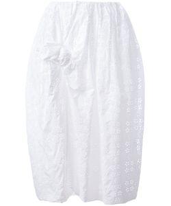 Simone Rocha | Front Bow Eyelet Skirt 4 Cotton/Polyester