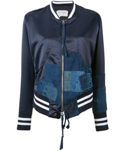GREG LAUREN | Denim Patches Bomber Jacket