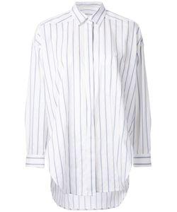 ENFÖLD | Enföld Concealed Fastening Striped Shirt 40 Cotton/Linen/Flax/Polyurethane/Nylon