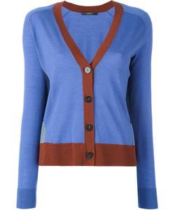 Odeeh | Contrast Detail V-Neck Cardigan 38 Virgin Wool