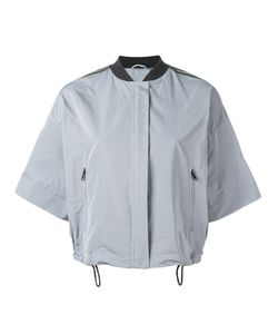 Brunello Cucinelli | Shortsleeved Zipped Cropped Jacket 44 Silk/Cotton/Polyester