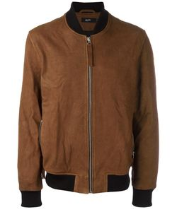 Blood Brother | Zipped Bomber Jacket Small Calf Leather/Polyester/Cotton