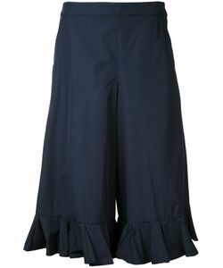 Muveil | Cropped Frill-Trim Trousers