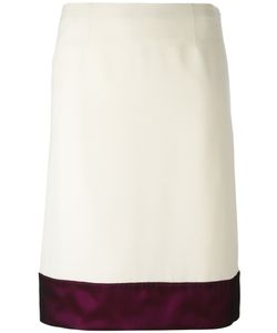 Lanvin | Block Hem Skirt 36 Acetate/Viscose/Silk