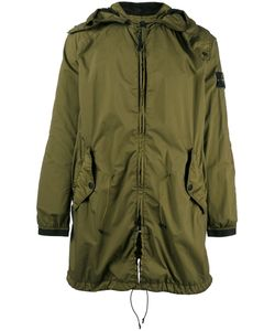 Stone Island | Gathered Hooded Coat Size Small