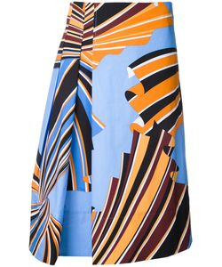 Emilio Pucci | Print Skirt 42 Cotton/Spandex/Elastane