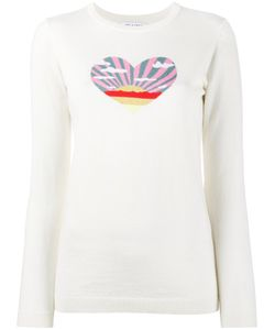 Bella Freud   Sunset Heart Intarsia Jumper Small Cotton/Cashmere