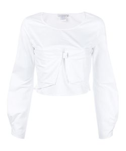 J.W. Anderson | J.W.Anderson Cropped Ruffle Sleeved Top 12 Cotton