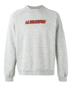 Sunnei   La Solitudine Print Sweatshirt Size Small