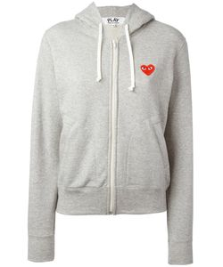 Comme des Gar ons Play | Comme Des Garçons Play Embroidered Logo Hoodie Size Medium