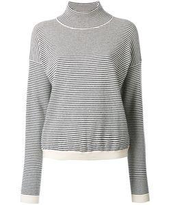 Mih Jeans | High Neck Striped Jumper Xs Cashmere