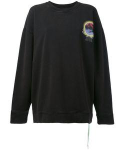 OFF-WHITE   Printed Oversized Sweatshirt Xxs