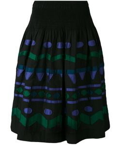 Issey Miyake Cauliflower | Embroidered Patch A-Line Skirt