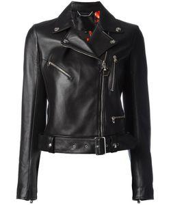 Philipp Plein | Rainbow Biker Jacket Large Lamb Skin/Viscose/Acetate/Polyester