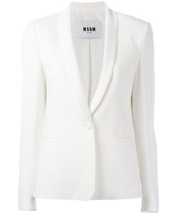 MSGM | Single Button Blazer 42 Viscose/Acetate/Polyester
