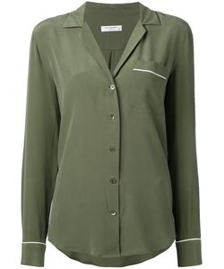 Equipment | Piped Trimmed Shirt Xs