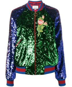 Gucci   Sequin Embellished Bomber Jacket 42 Polyamide/Cotton/Viscose/Cupro