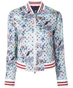 LOVELESS | Bird Print Bomber Jacket 34 Cotton/Polyurethane