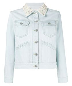 Isabel Marant Étoile | Embellished-Collar Denim Jacket