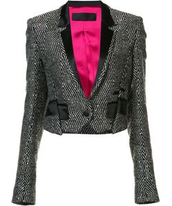 Haider Ackermann | Embellished Cropped Jacket 38 Cotton/Silk/Polyester/Wool
