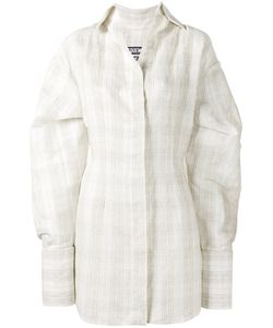 JACQUEMUS | Checked Shirt Dress With Oversized Cuffs