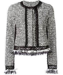 Jonathan Simkhai | Ruffle Tweed Jacket Small Cotton/Polyamide/Wool/Spandex/Elastane