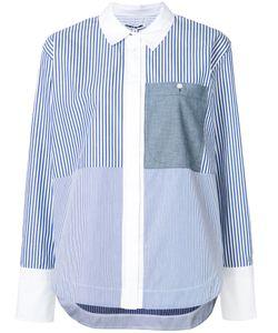 Elizabeth And James | Striped Shirt Medium Cotton