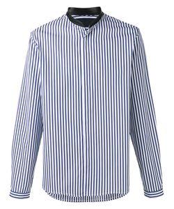 JUUN.J | Neck Detail Striped Shirt 46 Cotton
